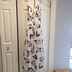 Floral midi dress Banana Republic size 2